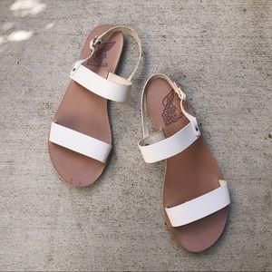 Ancient Greek Clio Sandals in White